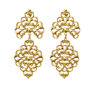 Dance Earrings Gold Plated