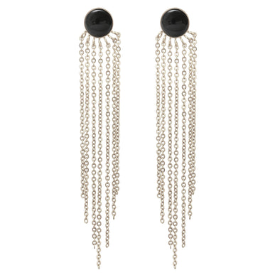 Gloria Earrings Silver Rhodium