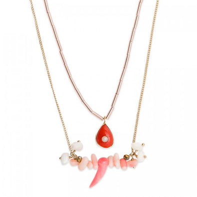 Necklace Tilos Coral Pink
