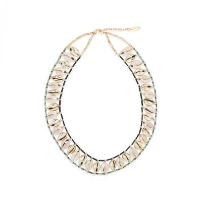 Necklace Alva Shell Black 38.5cm