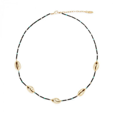 Necklace Tamouré Shell Black 38.5cm