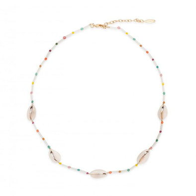 Necklace Tamouré Shell White 38.5cm
