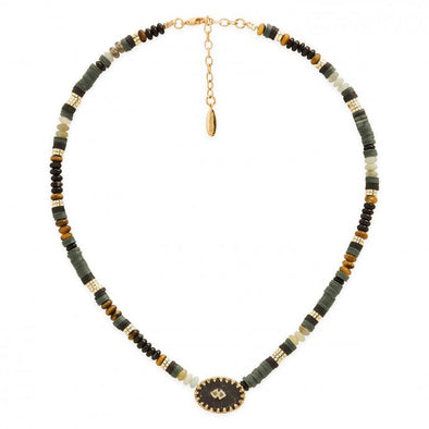 Bessame Necklace Black