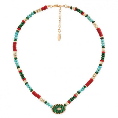 Bessame  Necklace Green