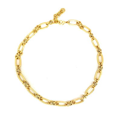 Amira Chain Necklace Gold Plated 46 cm