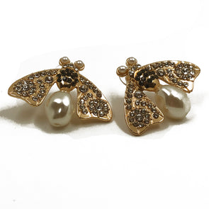Courtney Pearl and Crystal Bee Earring
