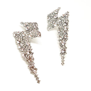 Cathy Crystal Bolt Statement Earrings