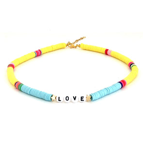 LOVE Surfer Necklace Azur/ Yellow