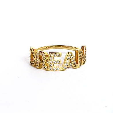 Dream Ring Gold/ White Crystal