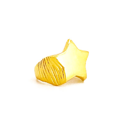 Pinky Star Gold Ring