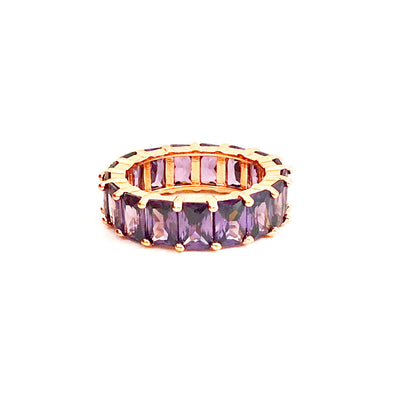 Artemis Ring Amethyst Rose Gold