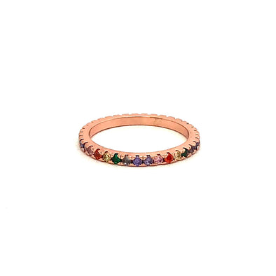 Clio Ring Deep Rainbow
