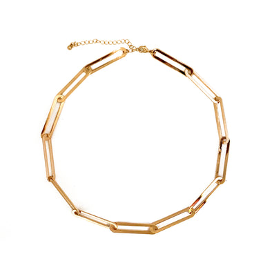 Necklace Links Chain Gold Plated 37cm/45cm