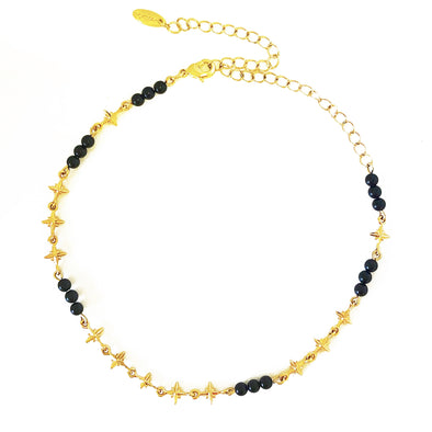 Cherished Charm Choker In Onyx And Gold