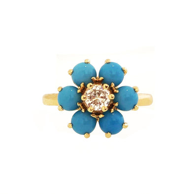 Flora Ring Turquoise