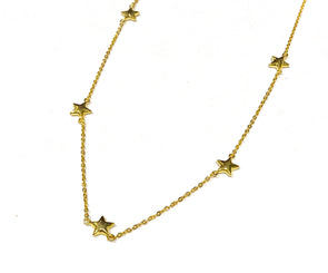 Dangling Stars Necklace 18K Gold Plated