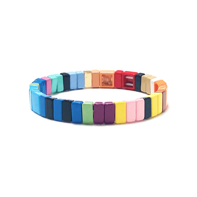 Mist Color Block Elastic Bracelet