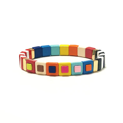 Totem Color Block Elastic Bracelet