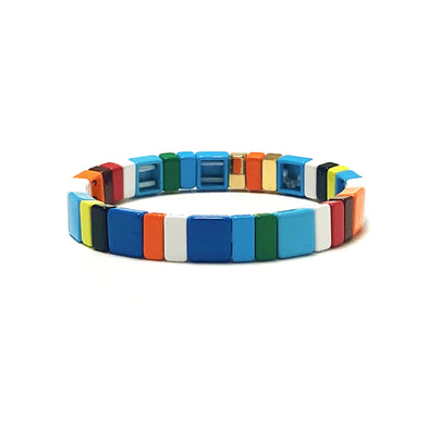 Savana Color Block Stretch Bracelet