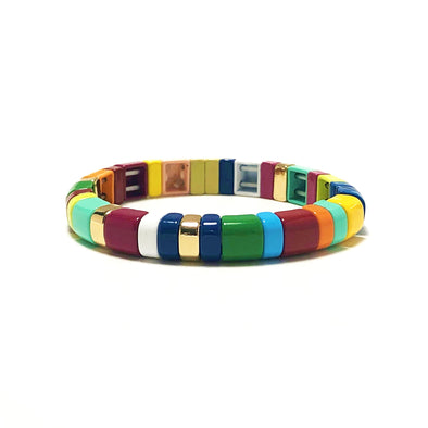 Savana Rounded Color Block Stretch Bracelet
