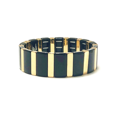 Dusk Color Block Elastic Bracelet