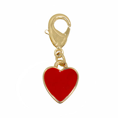 Enamel Heart Charm Red