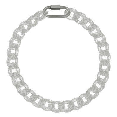 Link Chain Large Transparent Necklace 50Cm
