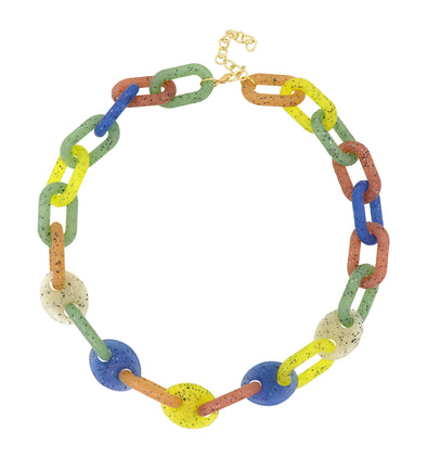 Link Chain Extra Large Necklace Multicolor 50Cm