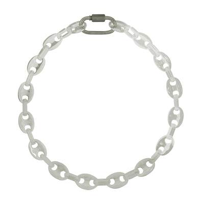 Link Chain Coffee Bean Necklace Transparent 50Cm