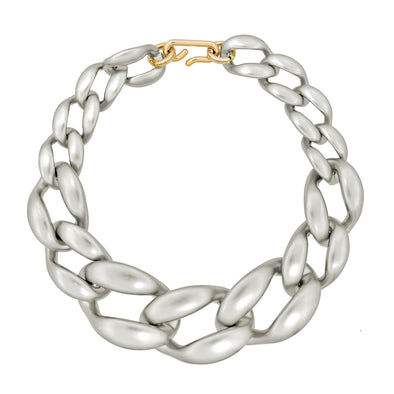 Link Chain Xxl Necklace Silver 50Cm