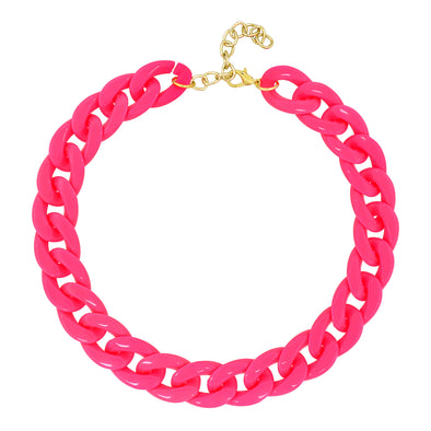 Lollipop Chain Necklace Vibrant Pink 50Cm
