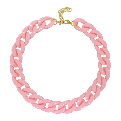 Lollipop Chain Necklace Light Pink 50Cm