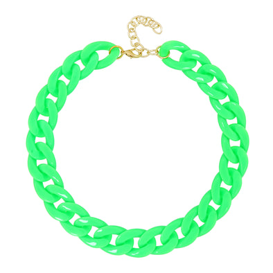 Lollipop Chain Necklace Vibrant Green 50Cm
