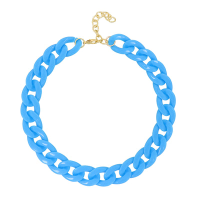 Lollipop Chain Necklace Blue 50Cm