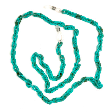 Turquoise Resin Sunglasses / Necklace Chain