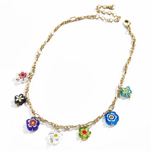 Cynthia Flower Charms Necklace