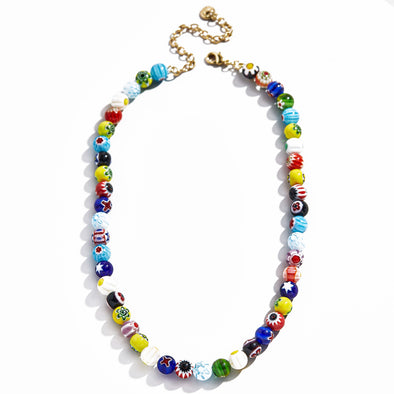Dafne Glass Beads Necklace