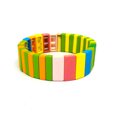 Summertime Color Block Elastic Bracelet