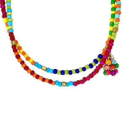 Long Multi Beads Necklace