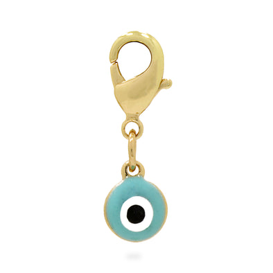 Enamel Evil Eye Charm Blue