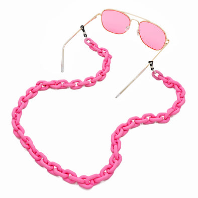 Lollipop Sunglasses & Mask Chain Matte Pink