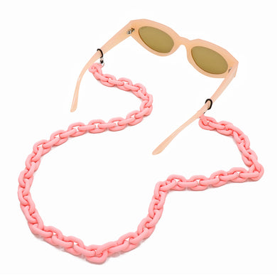 Lollipop Sunglasses & Mask Chain Matte Light Pink