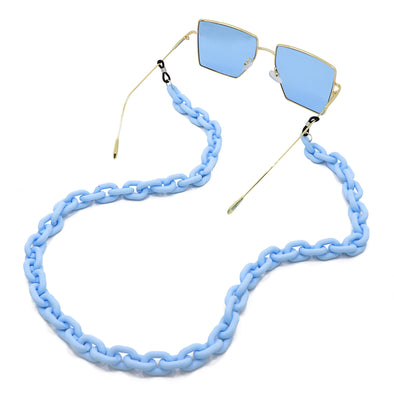 Lollipop Sunglasses & Mask Chain Matte Blue