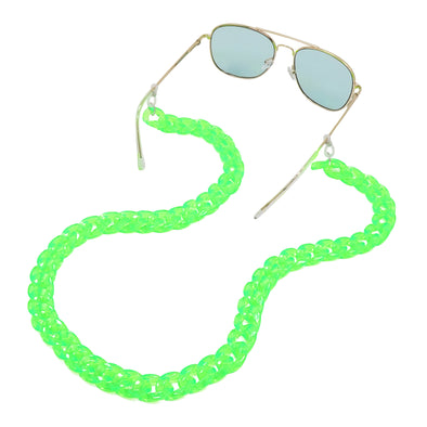 Lollipop Sunglasses & Mask Chain Green