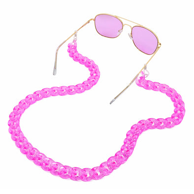 Lollipop Sunglasses & Mask Chain Fuschia