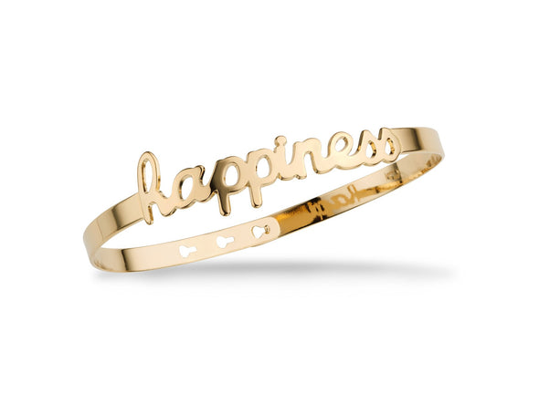 "Jonc ""Happiness"" Script - Or"