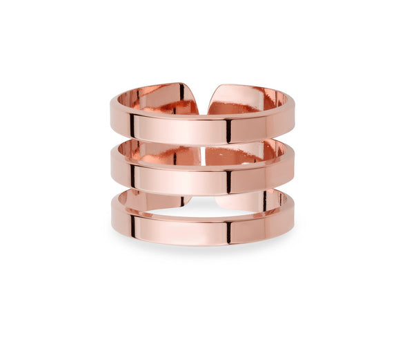 Bague Triple - Or Rose