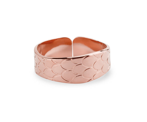 Bague Texture Python - Or Rose