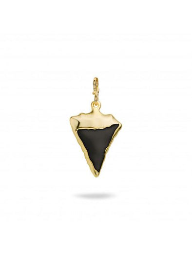 Shark Tooth - Black Charm Pendant