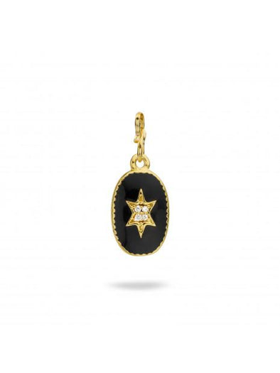 North Star - Black Charm Pendant